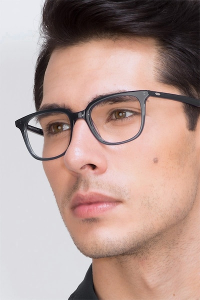 Ornette  Blue  Acetate Eyeglass Frames for Men from EyeBuyDirect