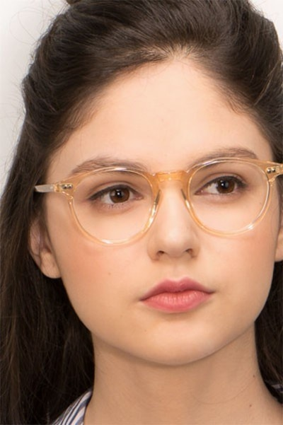 Kyoto  Clear Yellow  Acetate Eyeglass Frames for Women from EyeBuyDirect