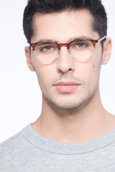 Kyoto Neapolitan Acétate Montures de Lunettes pour Hommes d'EyeBuyDirect, Vue de Face