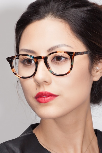 Aurora Nebular Blue Acetate Eyeglass Frames for Women from EyeBuyDirect