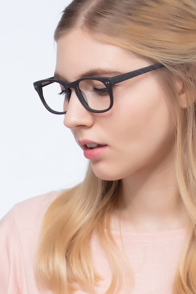 Carla Coffee Acetate Eyeglass Frames for Women from EyeBuyDirect