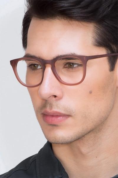Providence Matte Brown Acetate Eyeglass Frames for Men from EyeBuyDirect