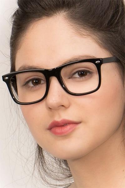 Sam Noir Acétate Montures de Lunette de vue pour Femmes d'EyeBuyDirect