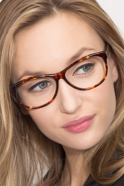 Sofia Tortoise Acetate Eyeglass Frames for Women from EyeBuyDirect