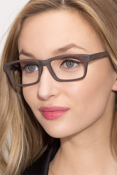 Emory Coffee Acetate Eyeglass Frames for Women from EyeBuyDirect