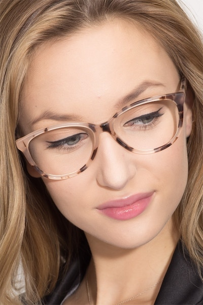 Hepburn Ivory Tortoise Acetate Eyeglass Frames for Women from EyeBuyDirect