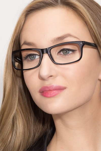 Mandi Black Acetate Eyeglass Frames for Women from EyeBuyDirect