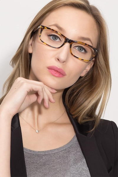 Mandi Tortoise Acetate Eyeglass Frames for Women from EyeBuyDirect, Front View