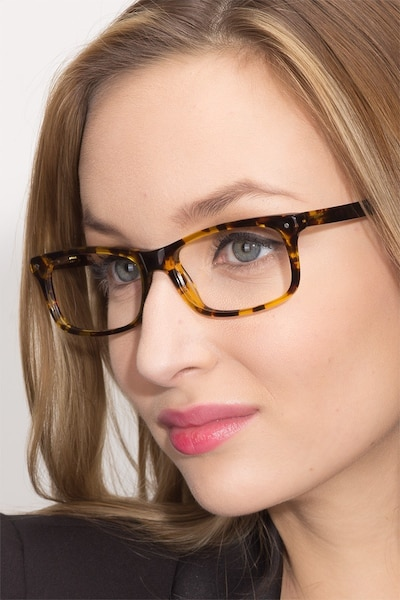 Mandi Tortoise Acetate Eyeglass Frames for Women from EyeBuyDirect