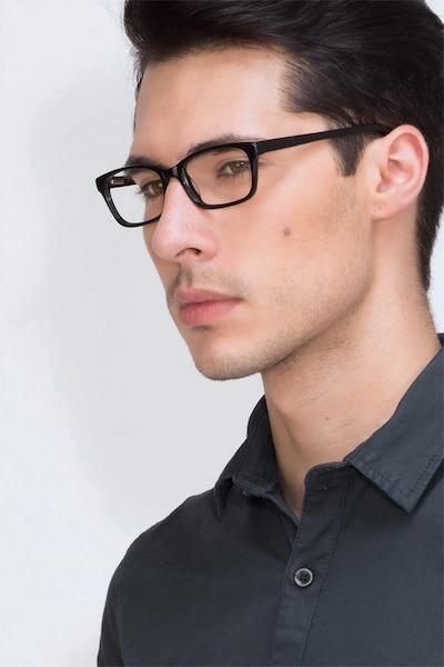 Mesquite Black Plastic Eyeglass Frames for Men from EyeBuyDirect