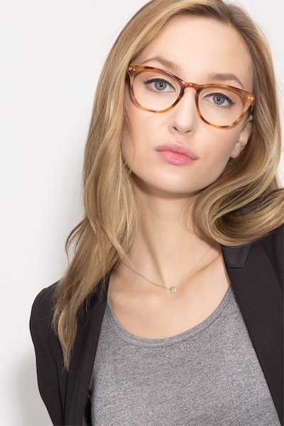 Notting Hill Tortoise Acetate Eyeglass Frames for Women from EyeBuyDirect