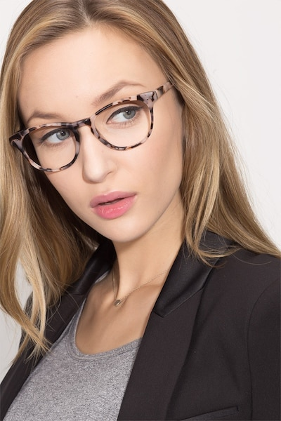 Notting Hill Ivory Tortoise Acetate Eyeglass Frames for Women from EyeBuyDirect, Front View