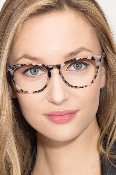 Notting Hill Ivory Tortoise Acetate Eyeglass Frames for Women from EyeBuyDirect