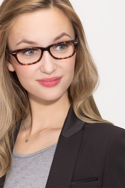 Fairmount Tortoise Acetate Eyeglass Frames for Women from EyeBuyDirect, Front View