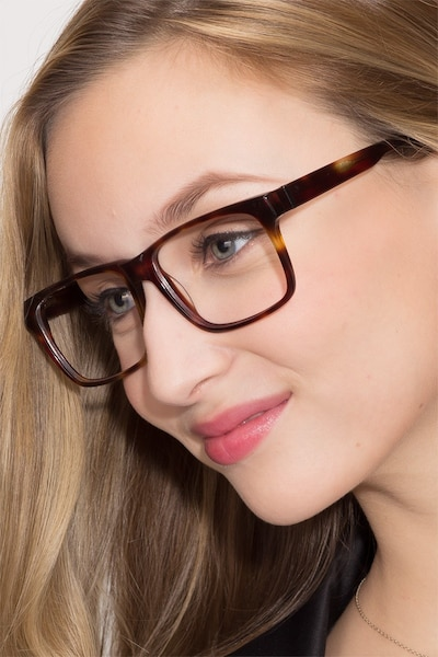 Sydney  Tortoise  Acetate Eyeglass Frames for Women from EyeBuyDirect
