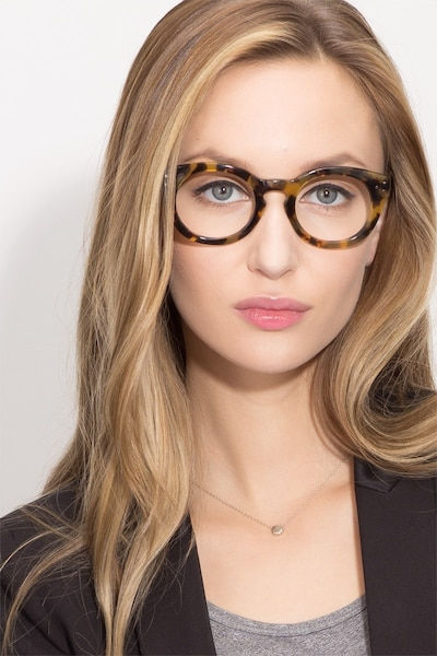Morla Tortoise Acetate Eyeglass Frames for Women from EyeBuyDirect, Front View