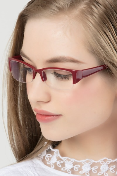 Diane  Red  Plastic Eyeglass Frames for Women from EyeBuyDirect