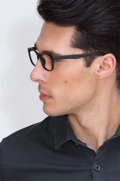 Drums Matte Black Plastic Eyeglass Frames for Men from EyeBuyDirect