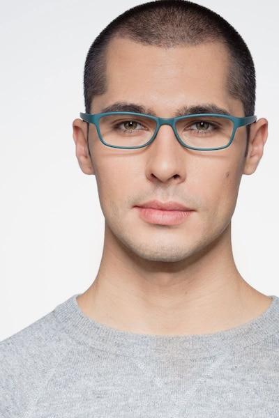 Versus Vert Mat Plastique Montures de Lunettes pour Hommes d'EyeBuyDirect, Vue de Face