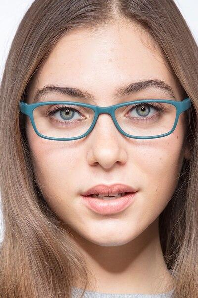 Versus Matte Green Plastic Eyeglass Frames for Women from EyeBuyDirect