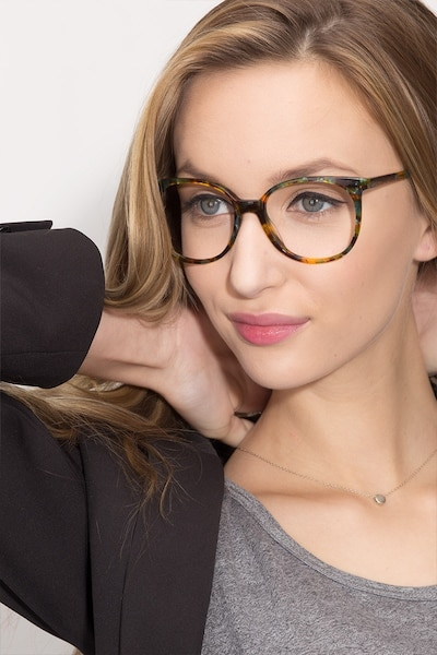 Bardot Floral Acetate Eyeglass Frames for Women from EyeBuyDirect, Front View