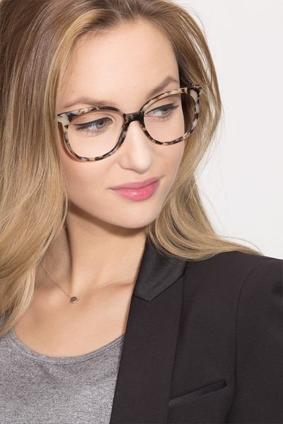 Bardot Ivory Tortoise Acetate Eyeglass Frames for Women from EyeBuyDirect, Front View