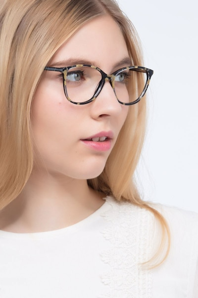 Charlize Floral Acetate Eyeglass Frames for Women from EyeBuyDirect, Front View