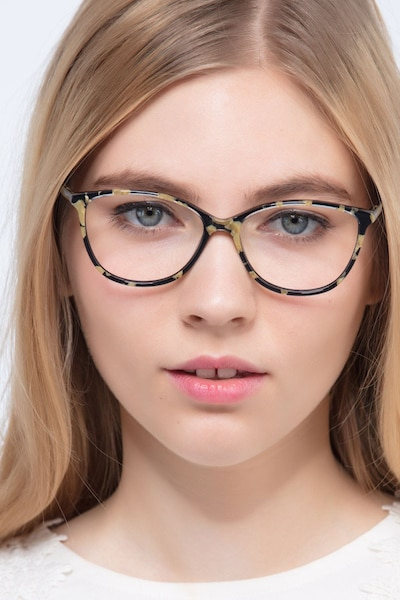 Charlize Floral Acetate Eyeglass Frames for Women from EyeBuyDirect