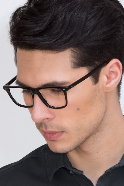 Default Black Acetate Eyeglass Frames for Men from EyeBuyDirect