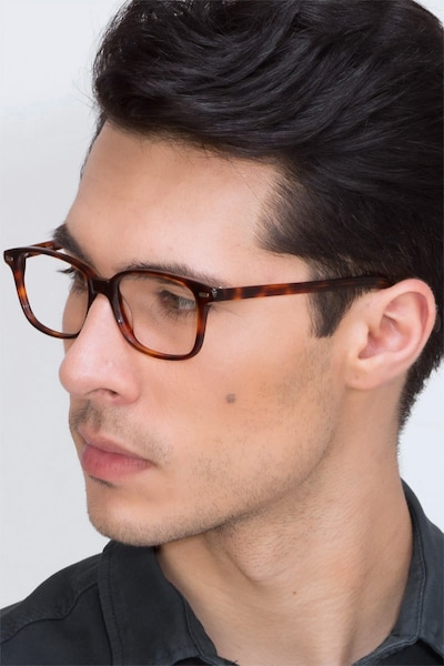 Sway Tortoise Acetate Eyeglass Frames for Men from EyeBuyDirect