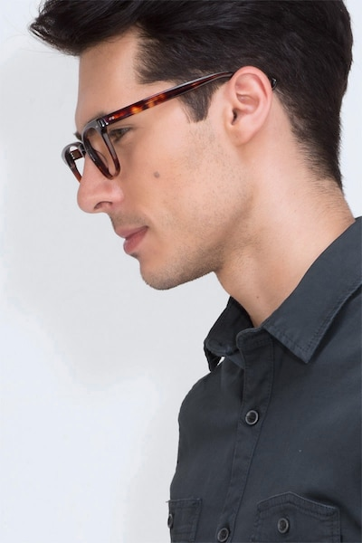 Samson Tortoise Acetate Eyeglass Frames for Men from EyeBuyDirect, Front View