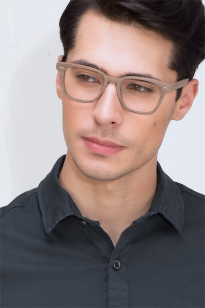 Samson  Brown Striped  Acetate Eyeglass Frames for Men from EyeBuyDirect, Front View