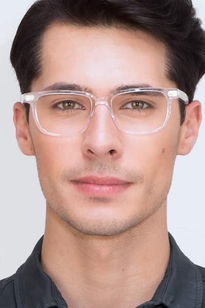 Pacific Clear Acetate Eyeglass Frames for Men from EyeBuyDirect