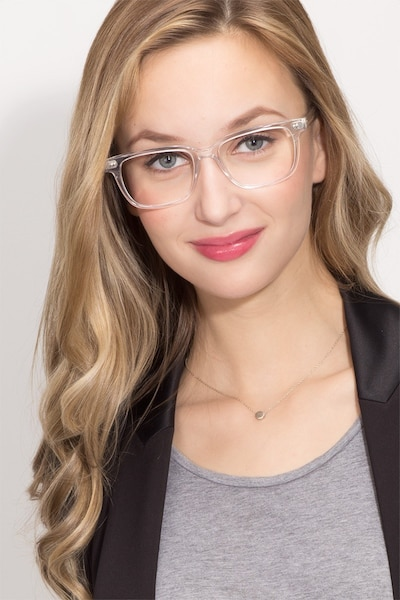 Pacific Clear Acetate Eyeglass Frames for Women from EyeBuyDirect, Front View
