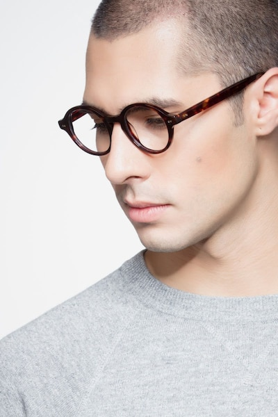 Aprem Tortoise Acetate Eyeglass Frames for Men from EyeBuyDirect