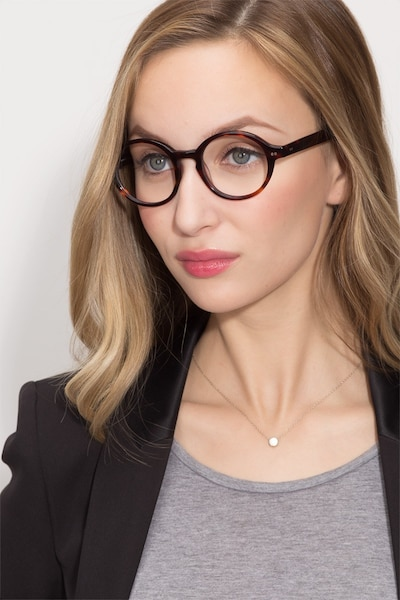 Aprem Tortoise Acetate Eyeglass Frames for Women from EyeBuyDirect