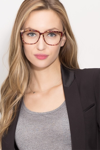 941923dce5 Capucine Red Floral Acetate Eyeglass Frames for Women from EyeBuyDirect