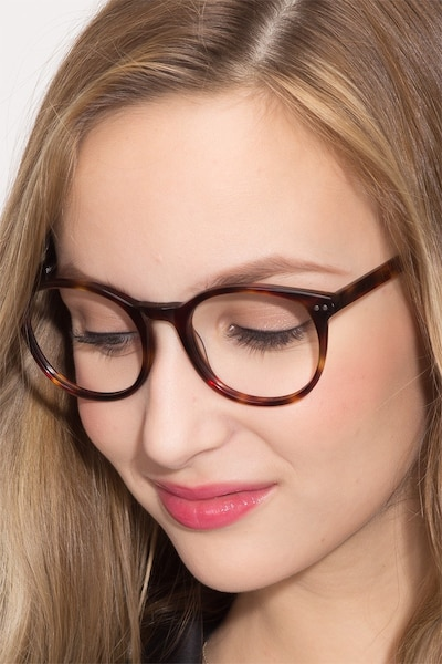 Primrose Tortoise Acetate Eyeglass Frames for Women from EyeBuyDirect