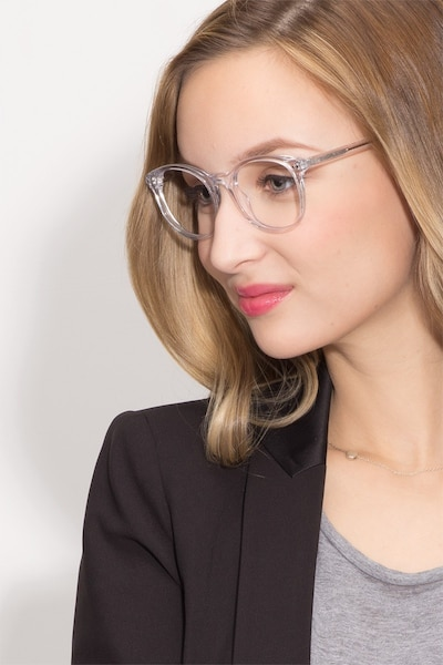 Primrose Clear Acetate Eyeglass Frames for Women from EyeBuyDirect, Front View