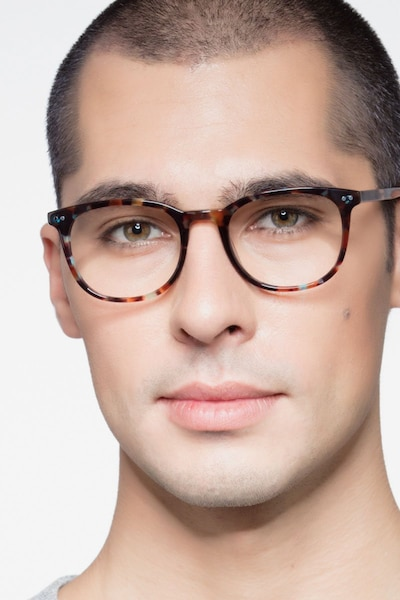 Demain  Blue Floral  Acetate Eyeglass Frames for Men from EyeBuyDirect