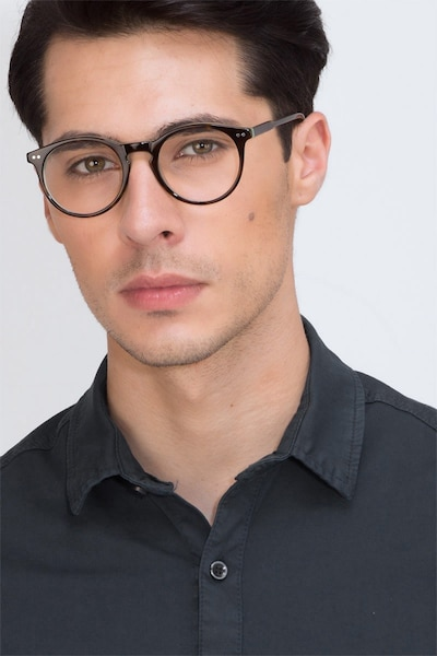 Neptune Tortoise Acetate Eyeglass Frames for Men from EyeBuyDirect, Front View