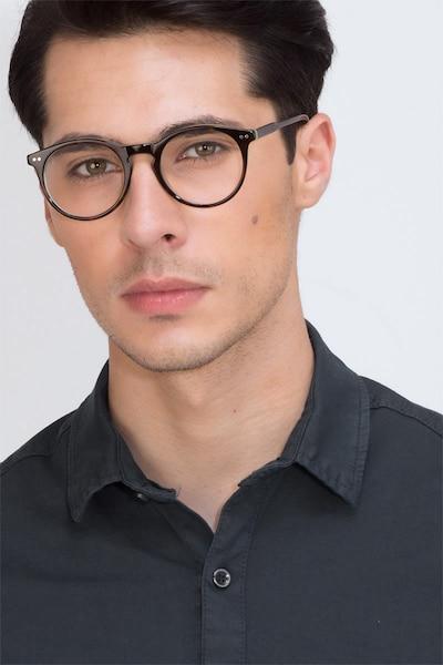 Neptune Écailles Acétate Montures de Lunettes pour Hommes d'EyeBuyDirect, Vue de Face