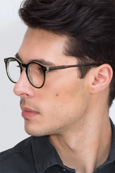 Neptune Tortoise Acetate Eyeglass Frames for Men from EyeBuyDirect