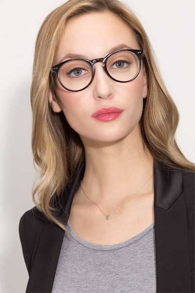 Neptune Tortoise Acetate Eyeglass Frames for Women from EyeBuyDirect, Front View