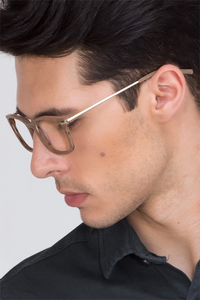Phase Brown Acetate Eyeglass Frames for Men from EyeBuyDirect