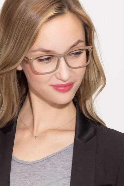 Phase Brown Acetate Eyeglass Frames for Women from EyeBuyDirect, Front View