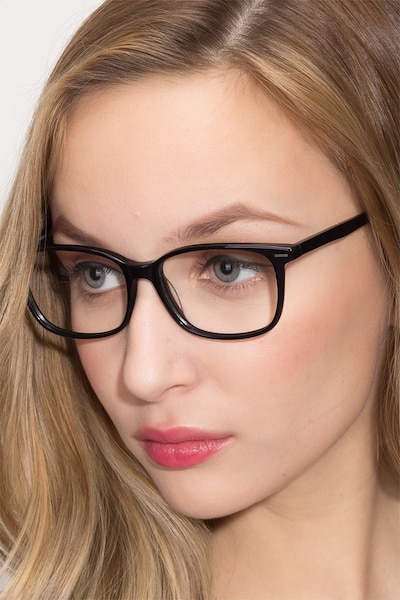 Seapoint Black Acetate Eyeglass Frames for Women from EyeBuyDirect