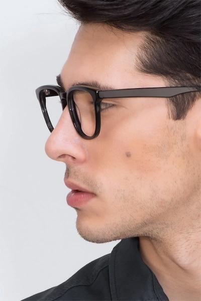 Sail Black Acetate Eyeglass Frames for Men from EyeBuyDirect