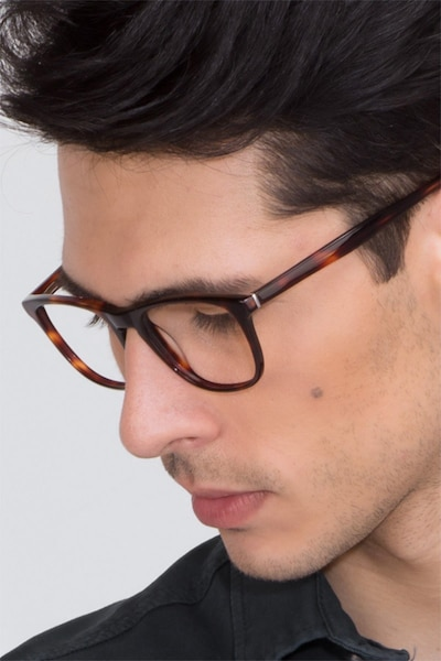Damien Tortoise Acetate Eyeglass Frames for Men from EyeBuyDirect
