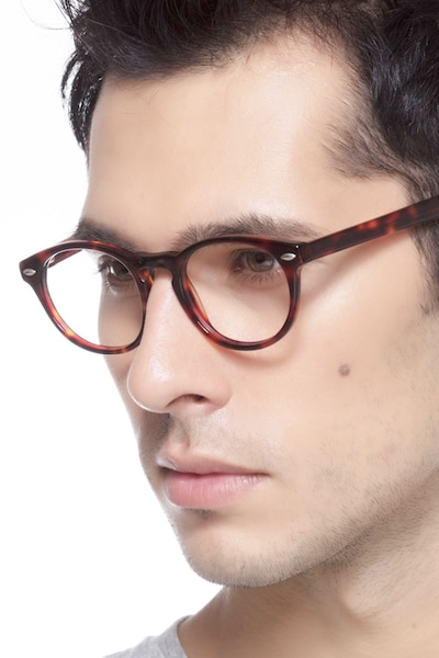 The Loop Tortoise Acetate Eyeglass Frames for Men from EyeBuyDirect